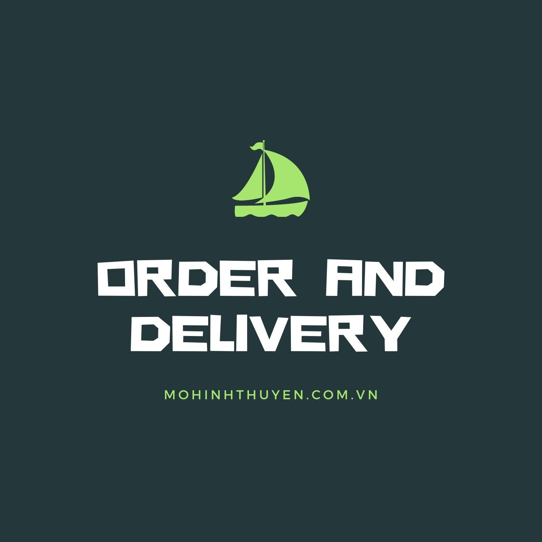 đặt hàng và giao hàng mô hình thuyền